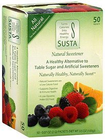 natural sweetener Susta Nutrition info