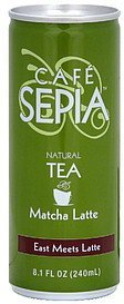 natural tea matcha latte Cafe Sepia Nutrition info