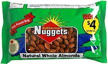 natural whole almonds California Nuggets Nutrition info