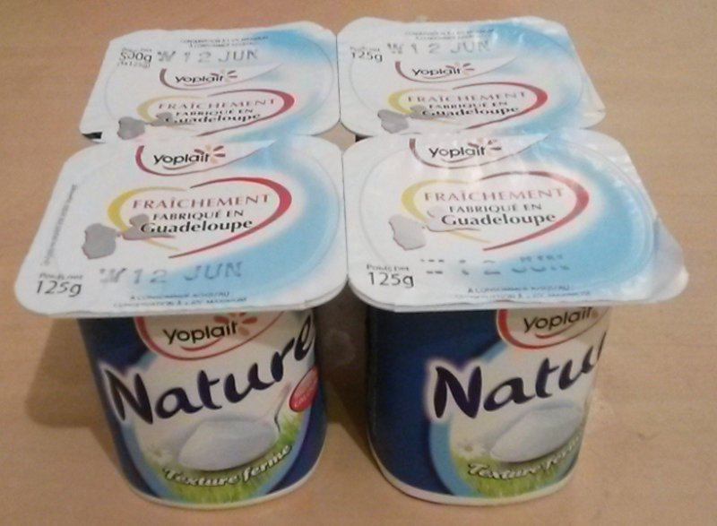 natural Yoplait Nutrition info