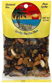 natures mix Island Snacks Nutrition info