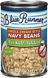 navy beans creole cream style no salt added Blue Runner Nutrition info