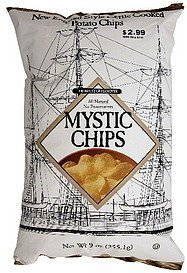 new england style kettle cooked potato chips Mystic Chips Nutrition info