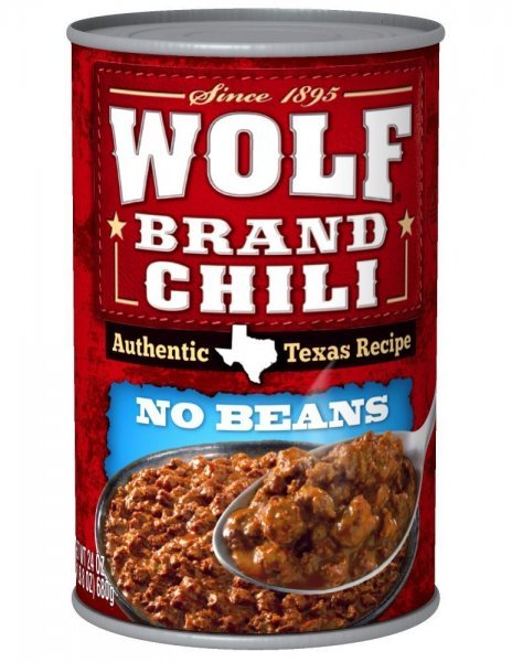 no beans Wolf Brand Chili Nutrition info