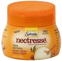 no calorie sweetener natural Nectresse Nutrition info