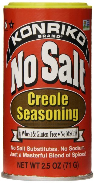 no salt seasoning creole Konriko Nutrition info