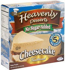 no sugar-added cheesecake traditional Heavenly Desserts Nutrition info