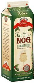 nog fat free C.F. Burger Creamery Nutrition info