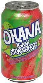 non-carbonated drink kiwi strawberry Ohana Nutrition info