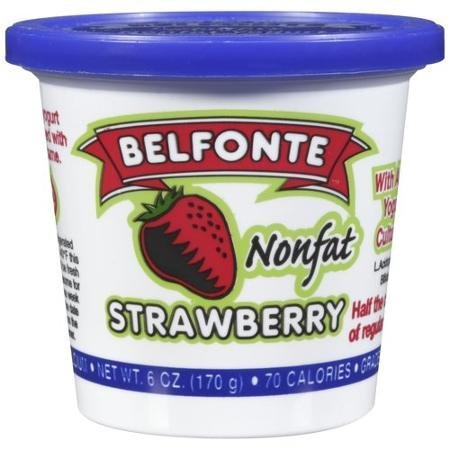 nonfat strawberry yogurt Belfonte Nutrition info