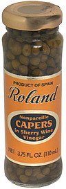 nonpareille capers in sherry wine vinegar Roland Nutrition info