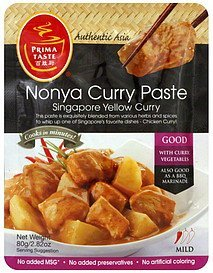 nonya curry paste mild Prima Taste Nutrition info
