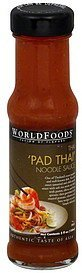 noodle sauce pad thai, mild World Foods Nutrition info