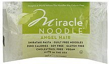 noodles angel hair Miracle Noodle Nutrition info