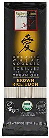 noodles organic wheat, brown rice udon EXPLORE ASIAN Nutrition info