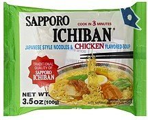 noodles & soup japanese style, chicken flavored Sapporo Ichiban Nutrition info