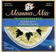 noodles with alfredo sauce Mamma Mia Nutrition info