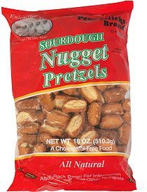 nugget pretzels sourdough Pennysticks Nutrition info