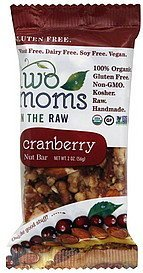 nut bar cranberry Two Moms in the Raw Nutrition info