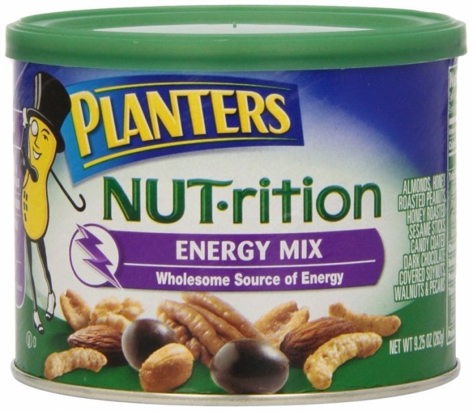 nut-rition energy mix Planters Nutrition info