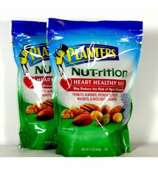 heart healthy mix nut-rition Planters Nutrition info