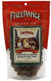 nut snacks roasted almonds Free Range Snack Co. Nutrition info
