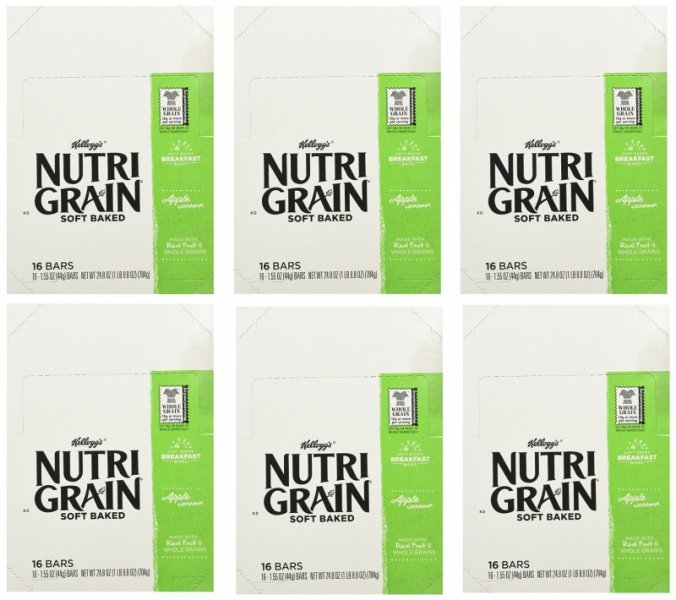 nutri grain apple cinnamon cereal bar Kellogg's Nutrition info