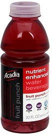 nutrient enhanced water beverage fruit punch flavored Acadia Nutrition info
