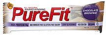 nutrition bar chocolate brownie Purefit Nutrition info