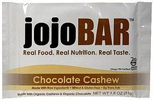 nutrition bar chocolate cashew JojoBAR Nutrition info