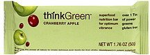 nutrition bar cranberry apple Think Green Nutrition info