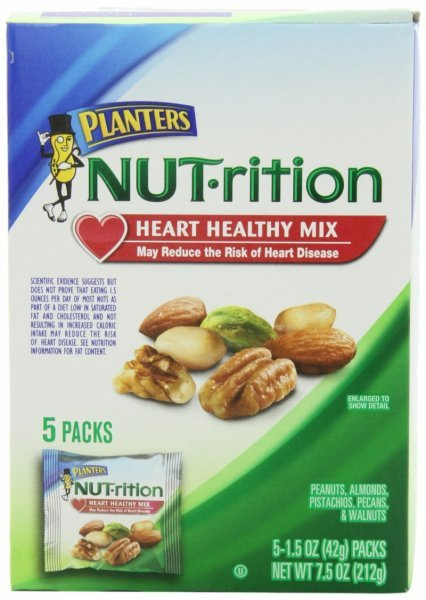 nutrition heart healthy mix Planters Nutrition info