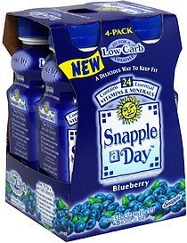 nutritional beverage blueberry Snapple a Day Nutrition info
