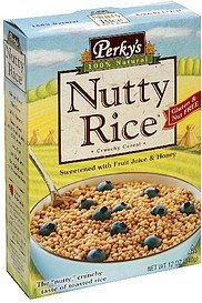 nutty rice Perky's Nutrition info