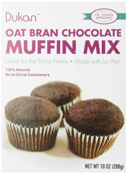 oat bran chocolate muffin mix Dukan Diet Nutrition info