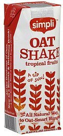 oat shake tropical fruits Simpli Nutrition info