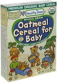oatmeal cereal for baby whole grain Healthy Times Nutrition info