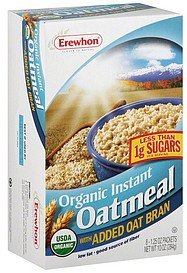 oatmeal organic instant, with added oat bran Erewhon Nutrition info