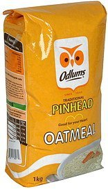 oatmeal traditional pinhead Odlums Nutrition info