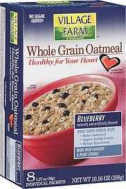 oatmeal whole grain blueberry Village Farm Nutrition info