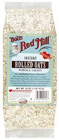 oats instant rolled whole grain Bobs Red Mill Nutrition info