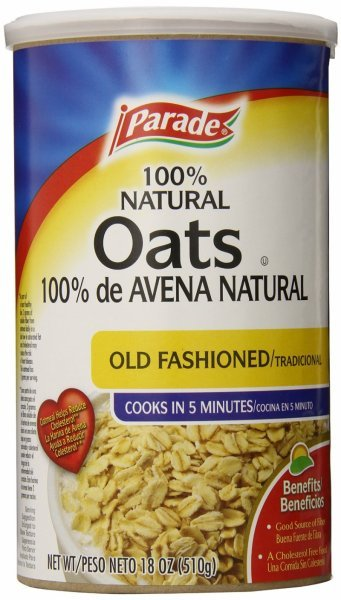 oats old fashioned Parade Nutrition info