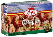 octopus in marinera sauce La Fe Nutrition info
