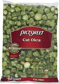 okra all natural cut Pictsweet Nutrition info