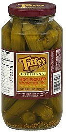okra louisiana, hot pickled Tiffes Nutrition info