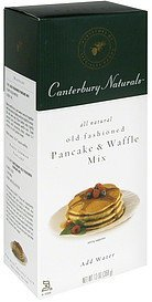 old fashioned pancake & waffle mix Canterbury Naturals Nutrition info