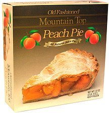 old fashioned peach pie Mountain Top Nutrition info