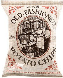 old-fashioned potato chips extra crunchy, kettle cooked J.P.'S Nutrition info