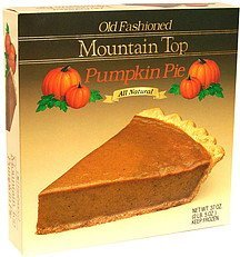 old fashioned pumpkin pie Mountain Top Nutrition info