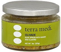 olivade with ginger and cilantro Terra Medi Nutrition info